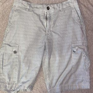 Calvin Klein Shorts Gray and Black Striped Sz 30